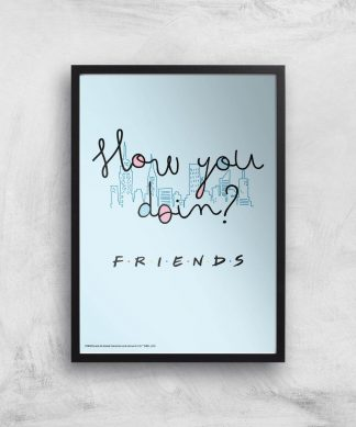 Friends How You Doin'? Giclee Art Print - A4 - Black Frame chez Casa Décoration