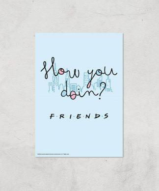 Friends How You Doin'? Giclee Art Print - A3 - Print Only chez Casa Décoration