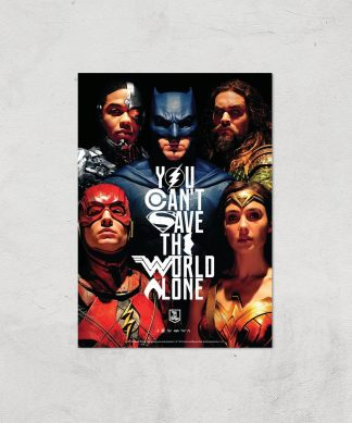 DC Justice League Giclee Art Print - A4 - Print Only chez Casa Décoration