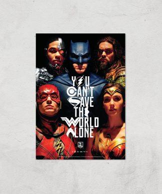 DC Justice League Giclee Art Print - A3 - Print Only chez Casa Décoration