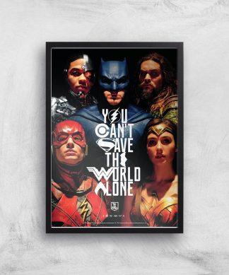 DC Justice League Giclee Art Print - A2 - Black Frame chez Casa Décoration