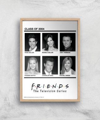 Friends Class Of 2004 Giclee Art Print - A4 - Wooden Frame chez Casa Décoration