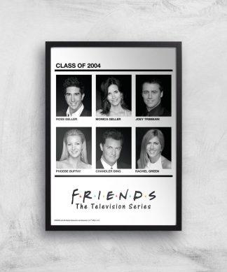 Friends Class Of 2004 Giclee Art Print - A4 - Black Frame chez Casa Décoration