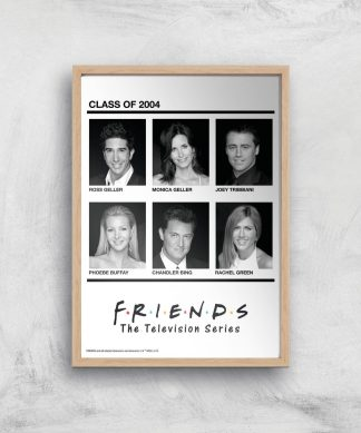 Friends Class Of 2004 Giclee Art Print - A2 - Wooden Frame chez Casa Décoration