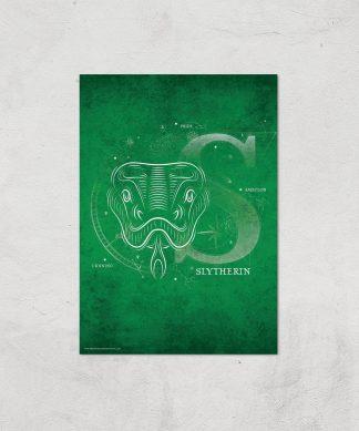 Harry Potter Slytherin Giclee Art Print - A3 - Print Only chez Casa Décoration