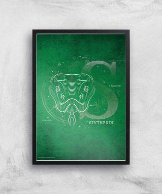 Harry Potter Slytherin Giclee Art Print - A3 - Black Frame chez Casa Décoration