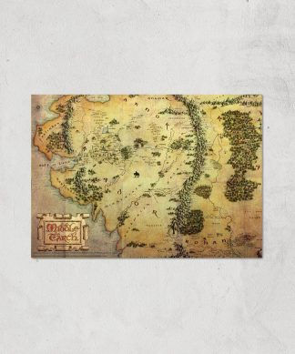 Lord Of The Rings Map Giclee Art Print - A4 - Print Only chez Casa Décoration