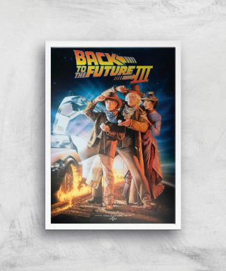 Back To The Future Part 3 Giclee Art Print - A4 - White Frame chez Casa Décoration