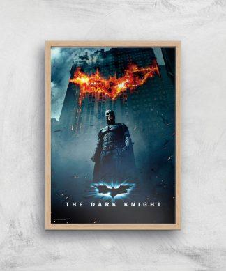 The Dark Knight Giclee Art Print - A4 - Wooden Frame chez Casa Décoration