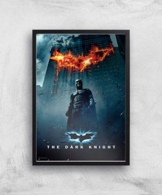 The Dark Knight Giclee Art Print - A4 - Black Frame chez Casa Décoration
