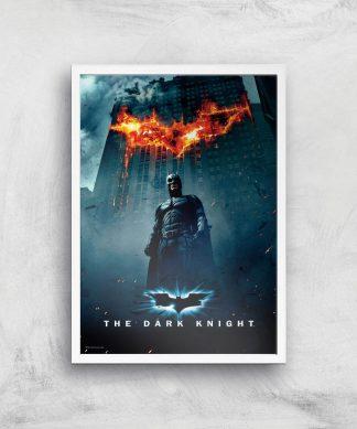 The Dark Knight Giclee Art Print - A2 - White Frame chez Casa Décoration