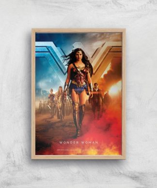 DC Wonder Woman Giclee Art Print - A2 - Wooden Frame chez Casa Décoration