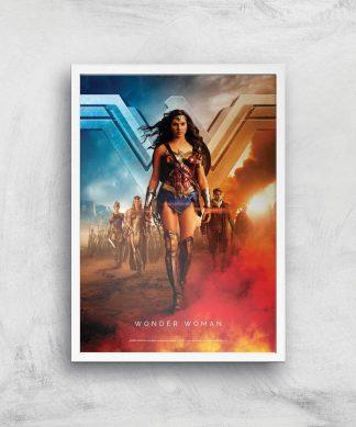 DC Wonder Woman Giclee Art Print - A2 - White Frame chez Casa Décoration