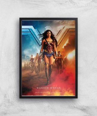 DC Wonder Woman Giclee Art Print - A2 - Black Frame chez Casa Décoration