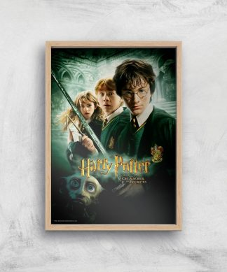 Harry Potter and the Chamber Of Secrets Giclee Art Print - A4 - Wooden Frame chez Casa Décoration
