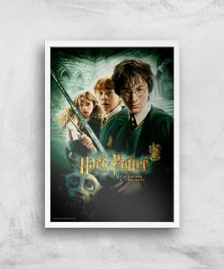 Harry Potter and the Chamber Of Secrets Giclee Art Print - A4 - White Frame chez Casa Décoration