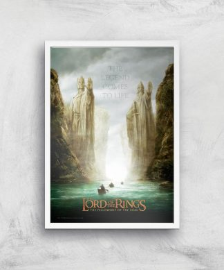 Lord Of The Rings: The Fellowship Of The Ring Giclee Art Print - A4 - White Frame chez Casa Décoration