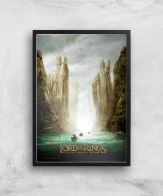 Lord Of The Rings: The Fellowship Of The Ring Giclee Art Print - A4 - Black Frame chez Casa Décoration
