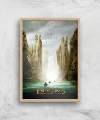 Lord Of The Rings: The Fellowship Of The Ring Giclee Art Print - A3 - Wooden Frame chez Casa Décoration