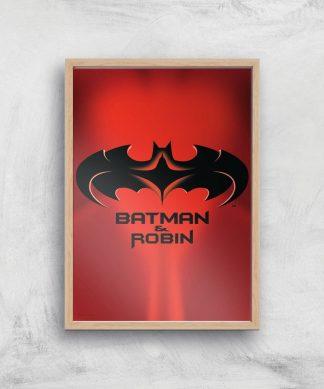 Batman & Robin Giclee Art Print - A4 - Wooden Frame chez Casa Décoration