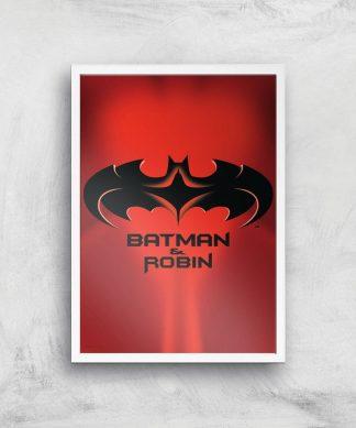 Batman & Robin Giclee Art Print - A3 - White Frame chez Casa Décoration