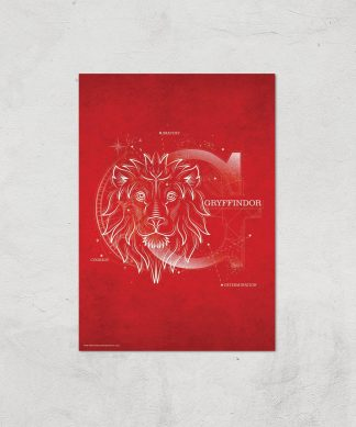 Harry Potter Gryffindor Giclee Art Print - A4 - Print Only chez Casa Décoration