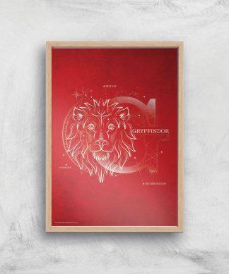 Harry Potter Gryffindor Giclee Art Print - A3 - Wooden Frame chez Casa Décoration