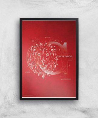 Harry Potter Gryffindor Giclee Art Print - A2 - Black Frame chez Casa Décoration