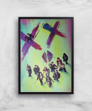 DC Suicide Squad Giclee Art Print - A4 - Black Frame chez Casa Décoration