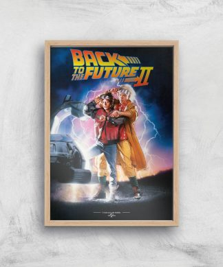 Back To The Future Part 2 Giclee Art Print - A4 - Wooden Frame chez Casa Décoration