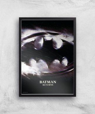 Batman Returns Giclee Art Print - A4 - Black Frame chez Casa Décoration