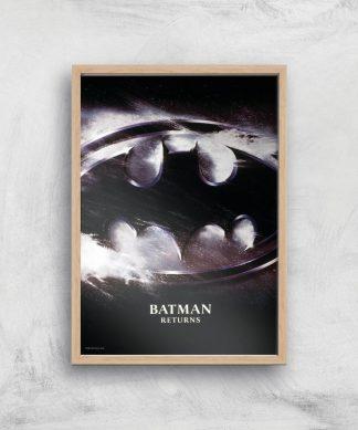 Batman Returns Giclee Art Print - A2 - Wooden Frame chez Casa Décoration