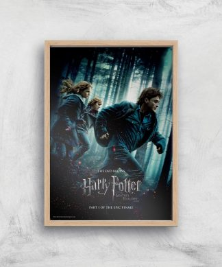 Harry Potter and the Deathly Hallows Part 1 Giclee Art Print - A4 - Wooden Frame chez Casa Décoration