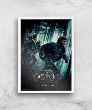 Harry Potter and the Deathly Hallows Part 1 Giclee Art Print - A4 - White Frame chez Casa Décoration