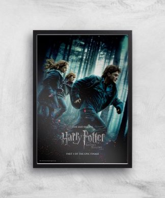 Harry Potter and the Deathly Hallows Part 1 Giclee Art Print - A4 - Black Frame chez Casa Décoration