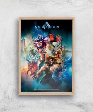 DC Aquaman Giclee Art Print - A4 - Wooden Frame chez Casa Décoration