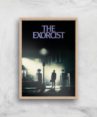 The Exorcist Giclee Art Print - A3 - Wooden Frame chez Casa Décoration
