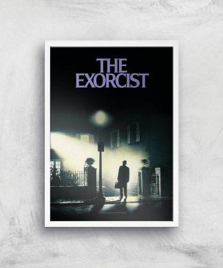 The Exorcist Giclee Art Print - A2 - White Frame chez Casa Décoration