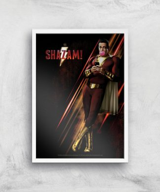 DC Shazam! Giclee Art Print - A4 - White Frame chez Casa Décoration
