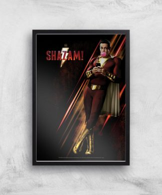 DC Shazam! Giclee Art Print - A4 - Black Frame chez Casa Décoration