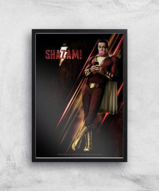DC Shazam! Giclee Art Print - A3 - Black Frame chez Casa Décoration