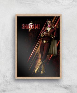DC Shazam! Giclee Art Print - A2 - Wooden Frame chez Casa Décoration