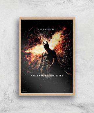 The Dark Knight Rises Giclee Art Print - A2 - Wooden Frame chez Casa Décoration