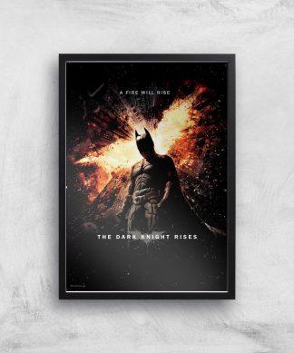 The Dark Knight Rises Giclee Art Print - A2 - Black Frame chez Casa Décoration