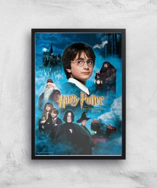 Harry Potter and the Philosopher's Stone Giclee Art Print - A4 - Black Frame chez Casa Décoration