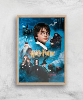 Harry Potter and the Philosopher's Stone Giclee Art Print - A3 - Wooden Frame chez Casa Décoration