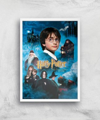 Harry Potter and the Philosopher's Stone Giclee Art Print - A2 - White Frame chez Casa Décoration