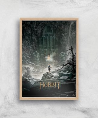 The Hobbit: The Desolation Of Smaug Giclee Art Print - A4 - Wooden Frame chez Casa Décoration