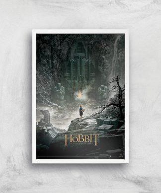 The Hobbit: The Desolation Of Smaug Giclee Art Print - A2 - White Frame chez Casa Décoration