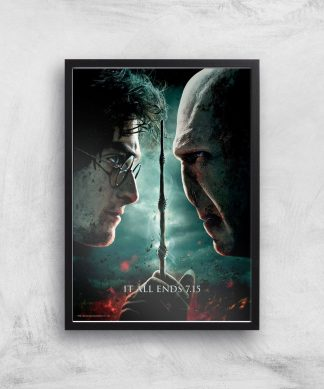 Harry Potter and the Deathly Hallows Part 2 Giclee Art Print - A4 - Black Frame chez Casa Décoration